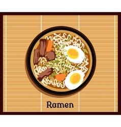 Japanese Ramen Concept vector image vector image