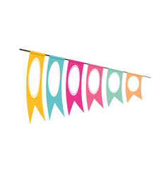 pennant decoration festive clored vector image
