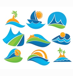 summer tourism vector image