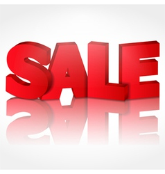 3d sale with reflection vector image