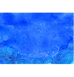 abstract ocean wave in bohemain style frame vector image