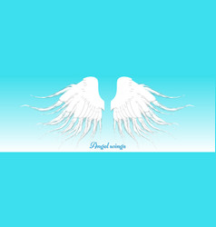 angel wings design over blue background vector image