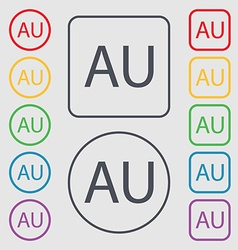 australia sign icon Symbols on the Round and vector image