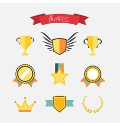 Awards collection vector image