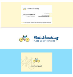 beautiful cycle logo and business card vertical vector image