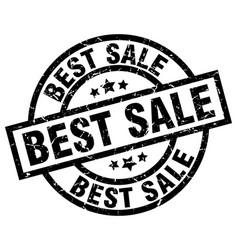 best sale round grunge black stamp vector image