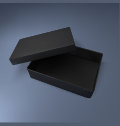 black box mockup vector image
