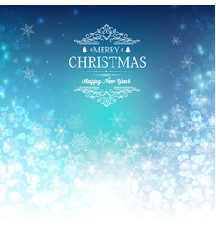 blue greeting merry christmas decorative card vector image