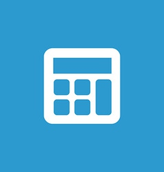 Calculator icon white on blue background vector