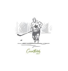 Canada hockey symbol country sport concept vector