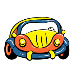 car toy icon cartoon style vector image