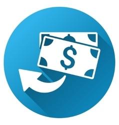 Cashback Gradient Round Icon vector