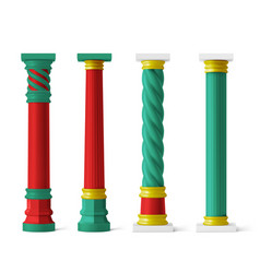 chinese pillars for pagoda and gazebo vector image