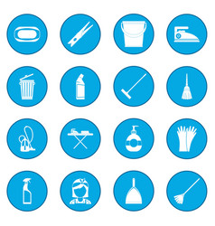 cleaning icon blue vector image