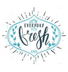 Coffee Cafe Fresh Everyday Fictitious name vector image