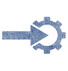 cog integration fabric textured icon vector image