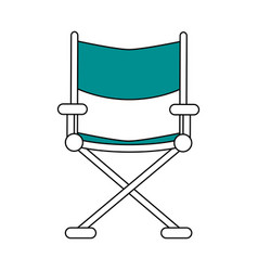 Color silhouette image cinema director chair vector