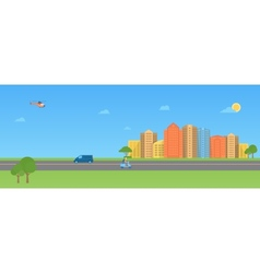 Colorful urban landscape vector image