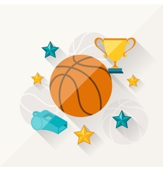 concept of basketball in flat design style vector image