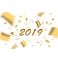 confetti gold blur 2019 vector image