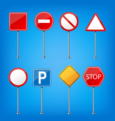 creative of road warning sign vector image