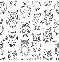 Cute cartoon wise owl vector