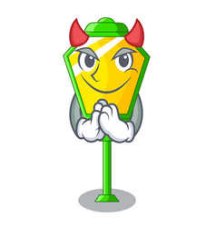 Devil street lamp post in shape cartoon vector