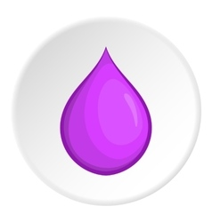 Drop icon cartoon style vector