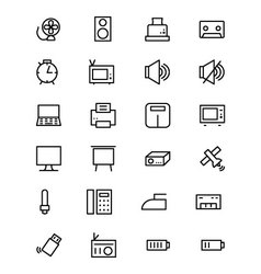 Electronics Line Icons 2 vector