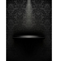 Empty shelf black luxury vector