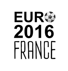 Euro 2016 France football championship vector