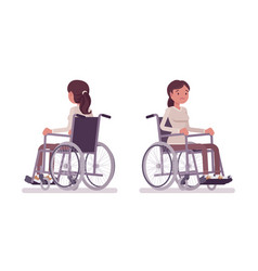 female young wheelchair user vector image
