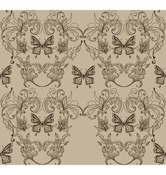 Floral vintage ornament vector image