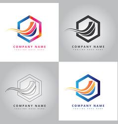 Futuristic colorful corporate company logo vector