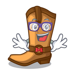 geek cowboy boots isolated in the mascot vector image