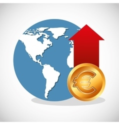 global economy planet concept vector image