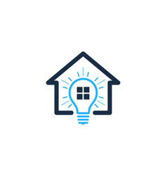home idea logo icon design vector image