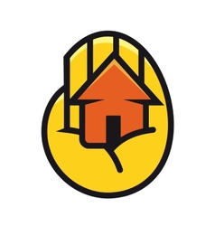 House cupped in the palm of a hand vector