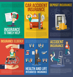 Insurance Poster Set vector image