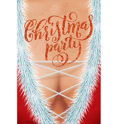 invitation for adult merry christmas party vector image