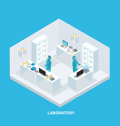 Isometric medical research concept vector
