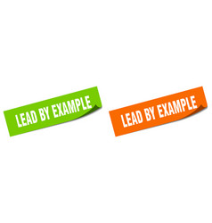 Lead example paper peeler sign set lead by vector