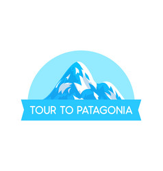 Logo emblem with patagonia alps vector