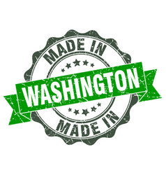 Made in washington round seal vector