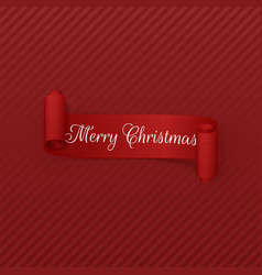 Merry christmas scroll ribbon vector
