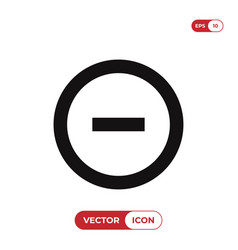 minus icon vector image