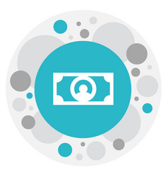 of trade symbol on currency vector image