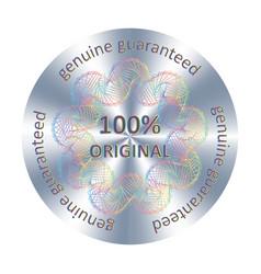 Original hologram label sticker vector
