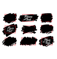 Paint ink brush stroke marker highlighter spot vector