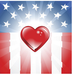 Patriotic heart background vector